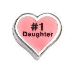 1 Daughter - Enamel Charm
